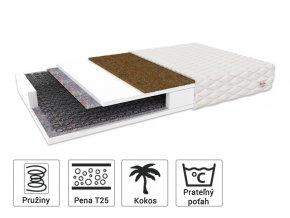 Sealy matrac s kokosom 200x140x15