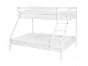 Mikael Biela rozšírená poschodová posteľ 200x140