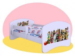 Lego postavičky posteľ Hobby 160x80