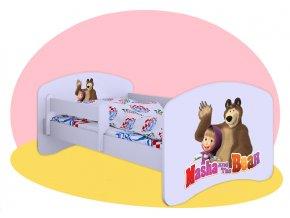 Hobby Máša a medveď postele pre deti 160x80