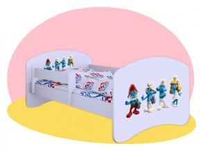 Hobby Šmolkovia 160x80 detská posteľ