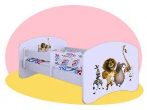 Madagaskar detské postele 180x90