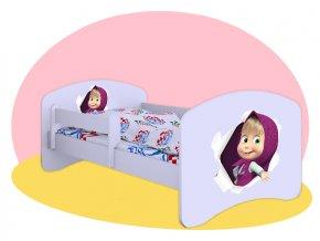 Detská posteľ s motívom Máša 180x90