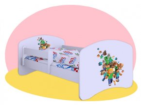 Hobby posteľ motív Minecraft 180x90
