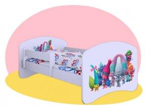 Detská posteľ Trollovia 180x90