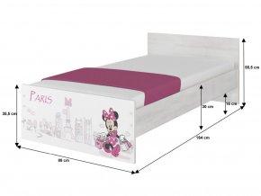 Detská posteľ Disney Max Minnie Paris 160x80