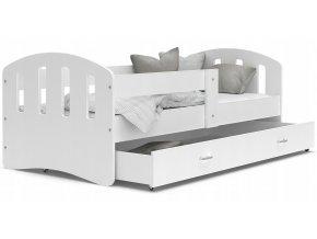 Hana Color biela 140x80 detská posteľ