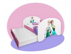 Hobby P2 detská posteľ 180x90 s prístelkou - rozprávkové motívy