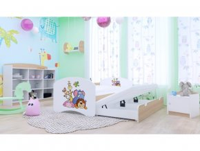 Rozkladacia posteľ pre deti Happy P2 200x90 hruška
