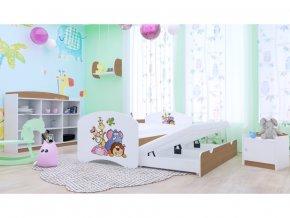 Happy P2 200x90 rozkladacia detská posteľ buk - 89 motívov