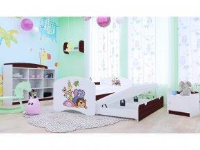 Happy P2 detská posteľ 200x90 gaštan - 89 motívov