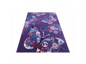 Koberec pre deti fialové motýle 03 100x200