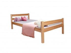 Helga borovica/biela detská posteľ 200x90