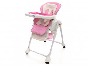 Detská jedálenská stolička Coto baby Zefir Ružová