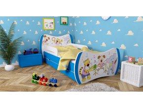 Detska postel DREAM modrá 160x80 bez úl. boxu