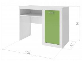 Filip Color písací stôl zelený