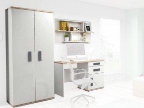 Nábytková stena IRIS biela/sivá
