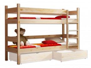 Lacná vyvýšená poschodová posteľ Paulína XL 200x90